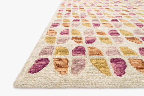 Hallu Rug in Ivory & Sunset by Loloi