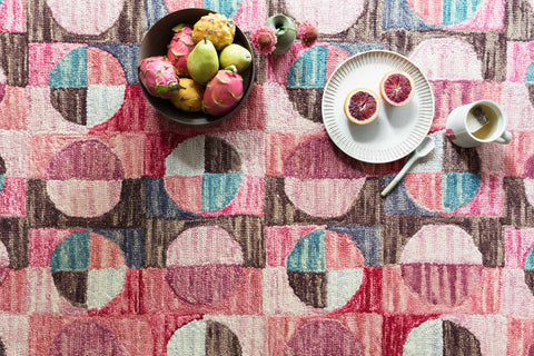 Hallu Rug in Berry & Charcoal by Loloi