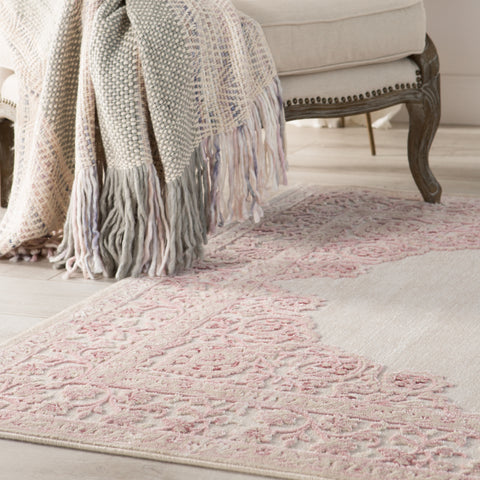 Hamlin Throw in Angora & Frost Gray design by Jaipur