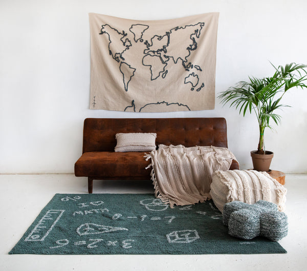 Canvas map Wall Hanging design by Lorena Canals