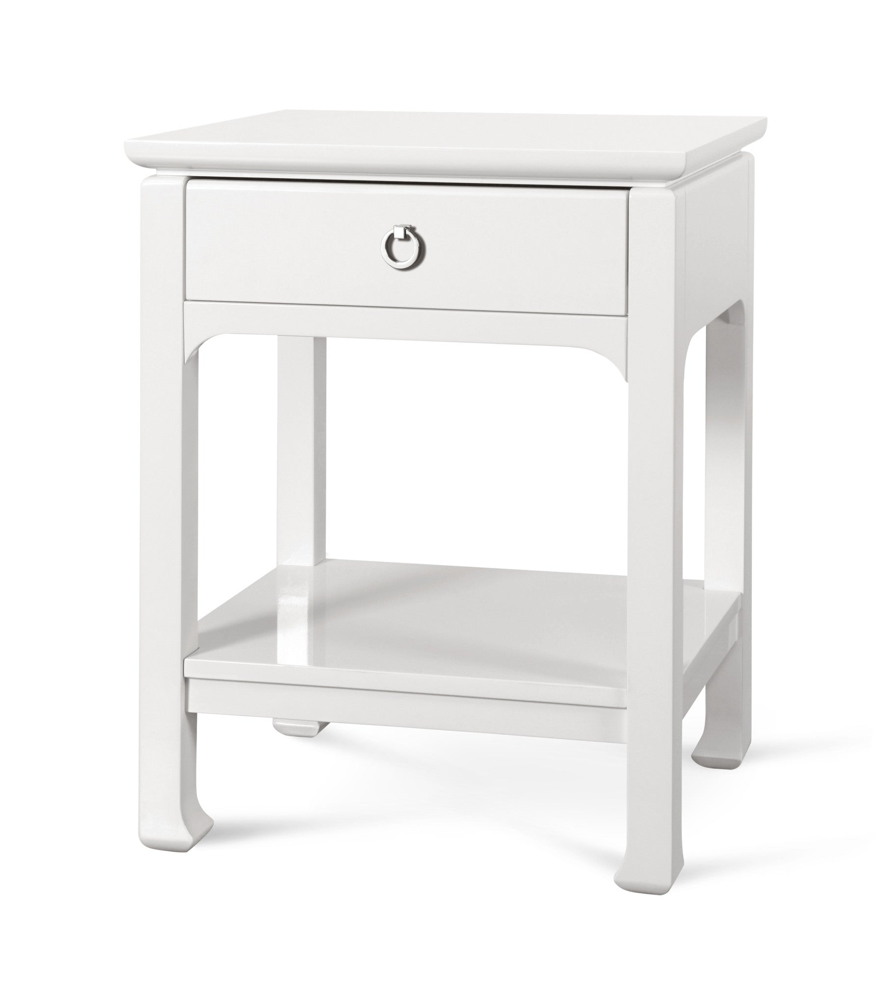 Harlow 1 Drawer Side Table In White Design By Bungalow 5