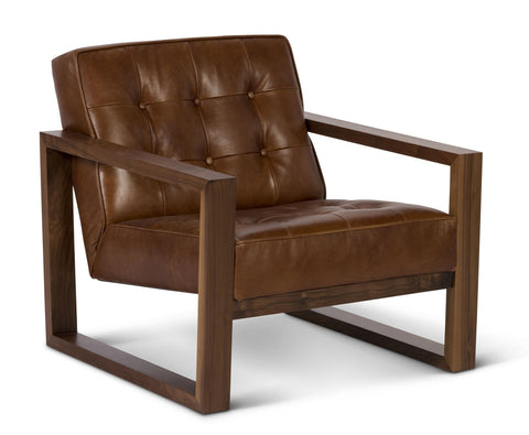 Harrison Leather Chair in Belle Warmth