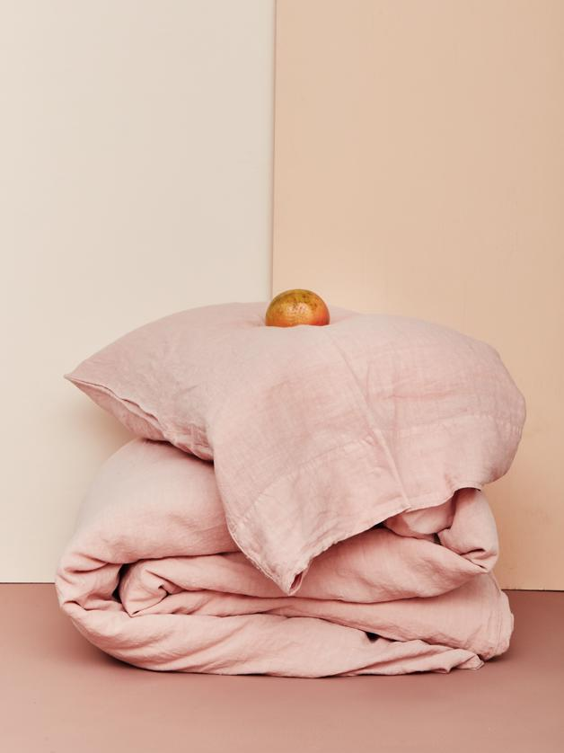 Simple Linen Queen Bedding in Various Colors by Hawkins New York
