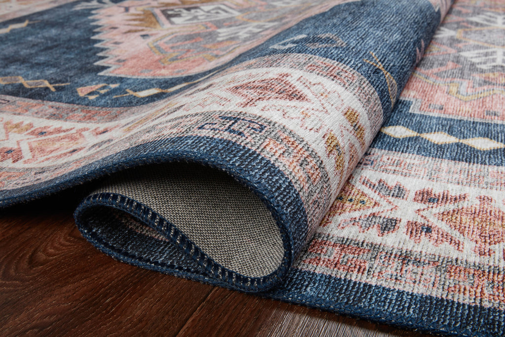 Heidi Rug in Denim / Blush by Loloi II