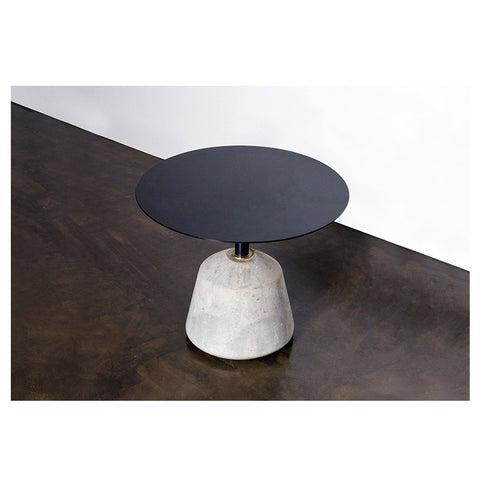 Exeter Side Table in Grey Concrete design by Nuevo