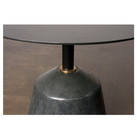 Exeter Side Table in Black Concrete design by District Eight