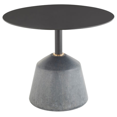 Exeter Side Table in Black Concrete design by Nuevo