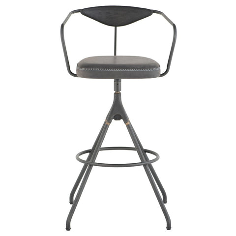 Akron Bar Stool in Storm Black design by District Eight