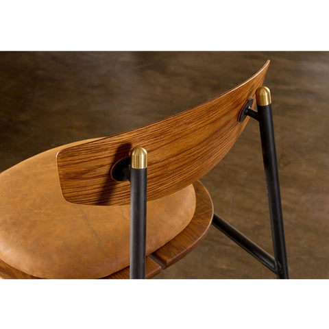 Kink Bar Stool in Umber Tan design by Nuevo