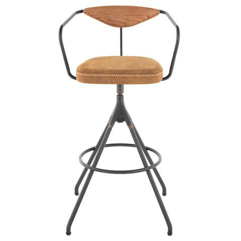 Akron Bar Stool in Umber Tan design by District Eight