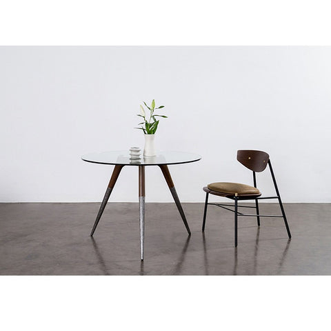 Assembly Bistro Table in Smoked Oak design by District Eight