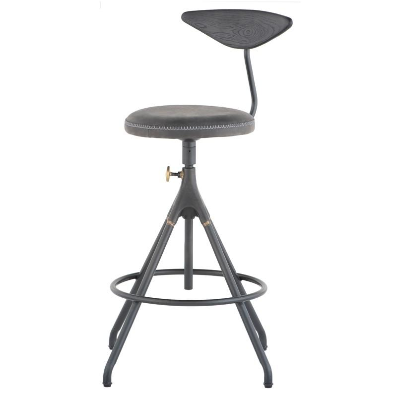 "19.5"" x 16.8"" x 35.8-40.8"" Akron Counter Stool by Nuevo"