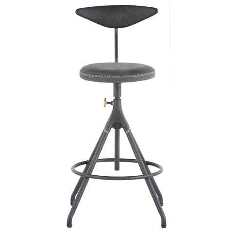 Akron Counter Stool in Storm Black design by District Eight