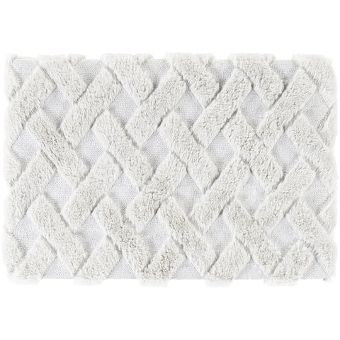 Hagen HGE-1000 Faux Fur Throw in Light Grey by Surya