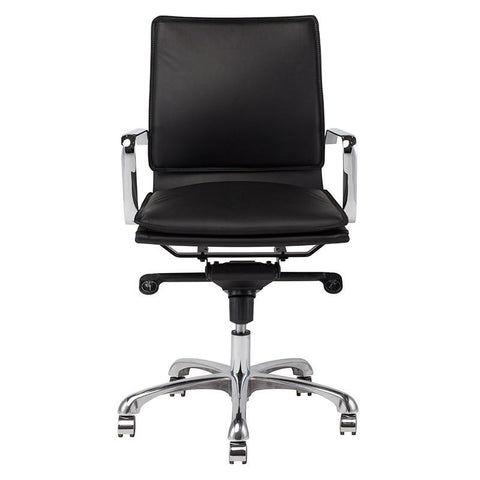 "23"" x 24.5"" x 38-40.8"" Carlo Office Chair by Nuevo"