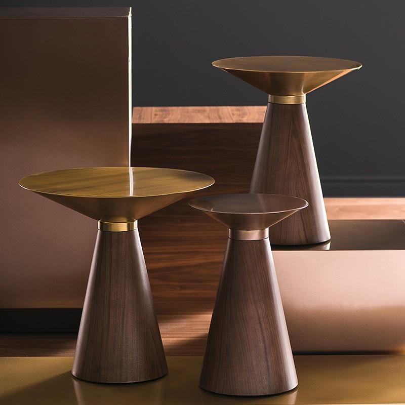 "15.8"" x 15.8"" x 19"" Iris Side Table by Nuevo"