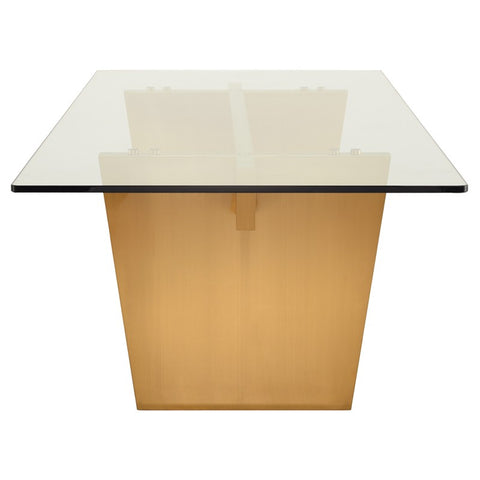 Aiden Dining Table in Brushed Gold design by Nuevo