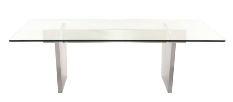 Aiden Dining Table in Brushed Stainless Steel design by Nuevo