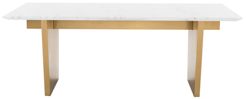 Aiden Dining Table in Brushed Gold