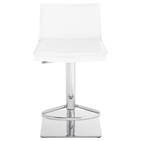 Palma Adjustable Stool in White design by Nuevo