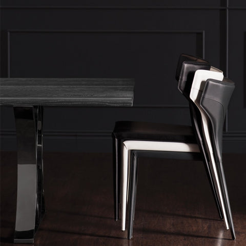 Wayne Dining Chair in Dark Grey design by Nuevo