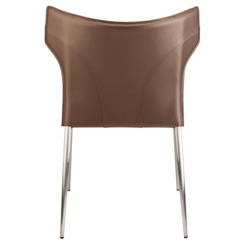 Wayne Dining Chair in Mink w/ Brushed Stainless Steel Legs design by Nuevo