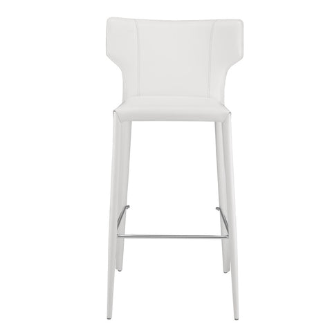 Wayne Counter Stool in White design by Nuevo