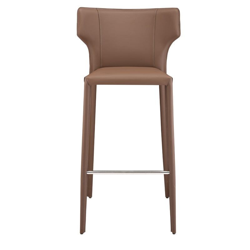 Wayne Counter Stool in Mink design by Nuevo