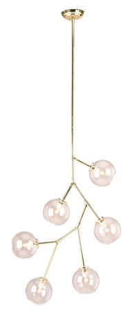 Atom 6 Pendant in Various Finishes design by Nuevo