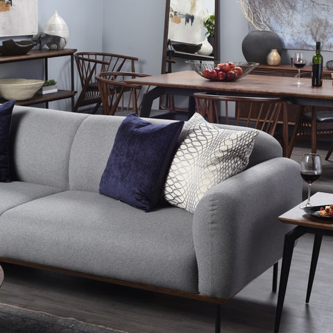 Benson Sofa in Light Grey design by Nuevo
