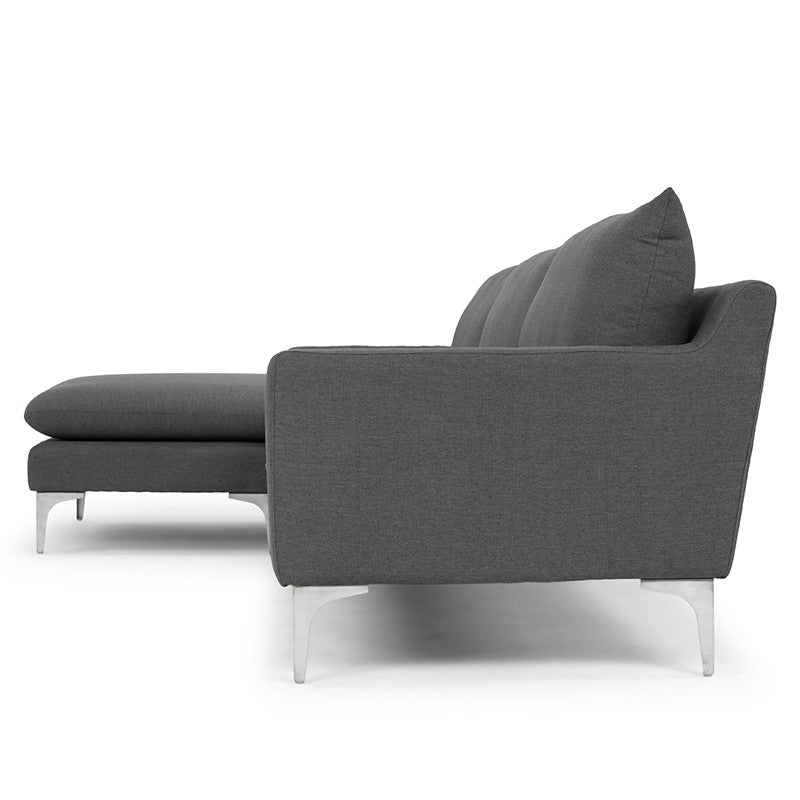 Anders Sectional in Slate Grey design by Nuevo