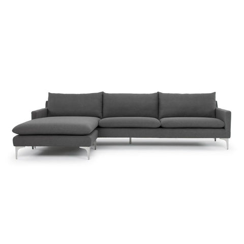 "117.3"" x 63"" x 32.3"" Anders Sectional with Fabric Seat by Nuevo"