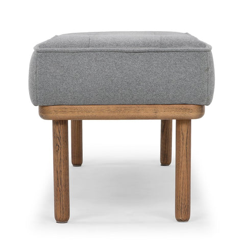 Arlo Bench in Light Grey design by Nuevo
