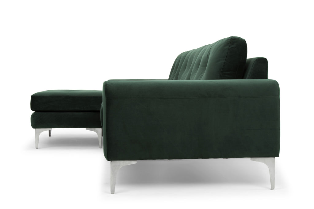 Colyn Sectional in Emerald Green design by Nuevo