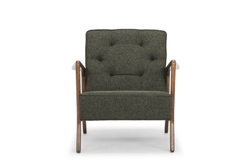Eloise Occasional Chair in Hunter Green design by Nuevo