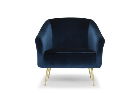 Lucie Occasional Chair in Midnight Blue design by Nuevo