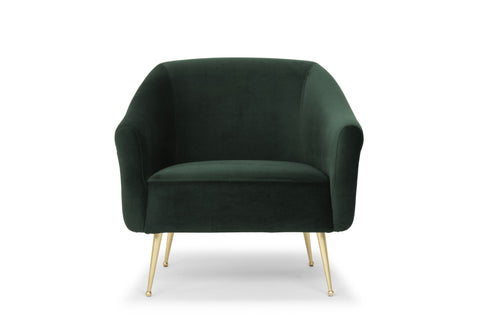 Lucie Occasional Chair in Emerald Green design by Nuevo