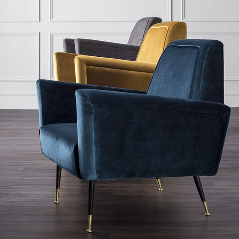 Victor Occasional Chair in Midnight Blue design by Nuevo