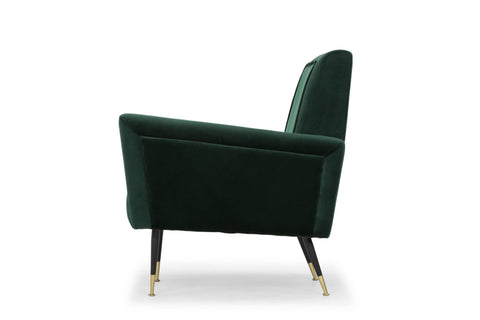 Victor Occasional Chair in Emerald Green design by Nuevo