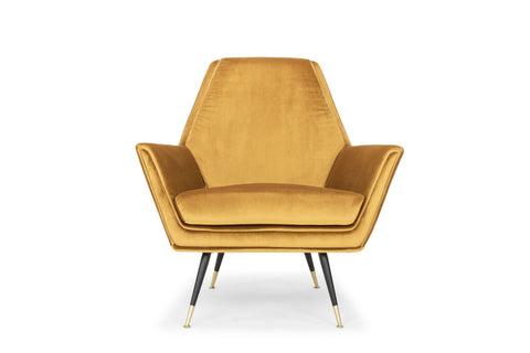 Vanessa Occasional Chair in Mustard design by Nuevo