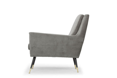 Vanessa Occasional Chair in Smoke Grey design by Nuevo
