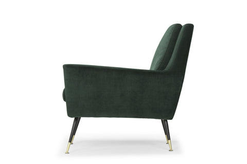 Vanessa Occasional Chair in Emerald Green design by Nuevo