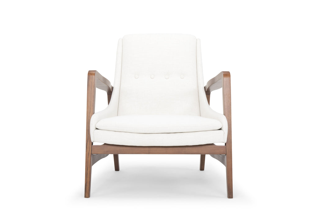Enzo Occasional Chair in Flax design by Nuevo
