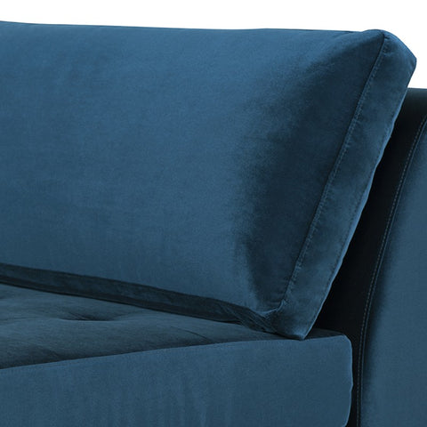 Janis Large Sofa Extension in Midnight Blue design by Nuevo