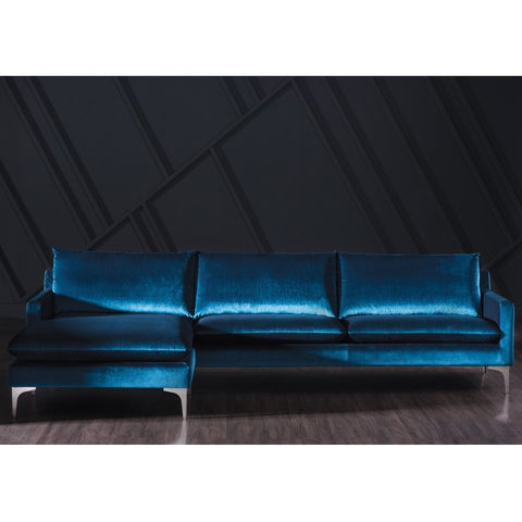 Anders Sectional in Midnight Blue design by Nuevo