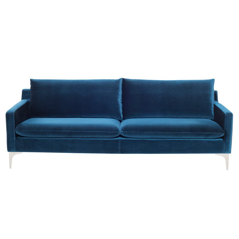 Anders Sofa in Midnight Blue design by Nuevo