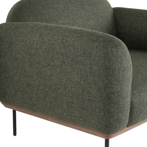 Benson Occasional Chair in Hunter Green Tweed design by Nuevo