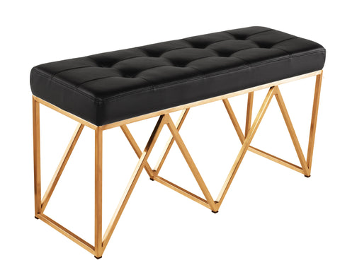 Celia Bench in Black & Brushed Gold design by Nuevo