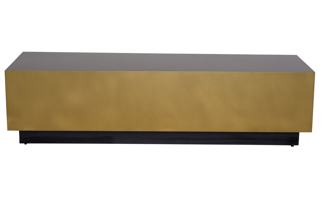 Asher Coffee Table in Brushed Gold design by Nuevo