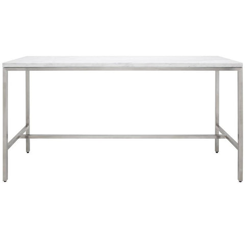 72-Inch Verona Bar Table with White Marble Top by Nuevo